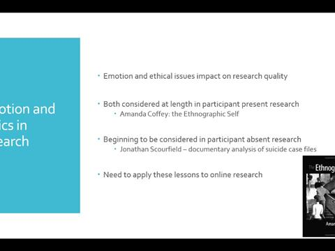 ethical issues with online research